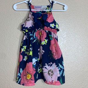 Blueberi Boulevard baby girl floral print dress.